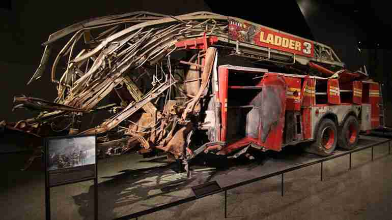 Destroyed FDNY Engine 21 fire truck recovered from Ground Zero