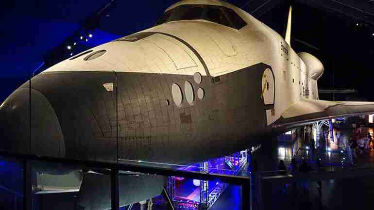 The Space Shuttle Pavilion at the Intrepid Sea, Air and Space Museum